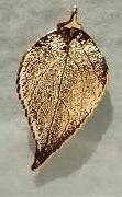 Bijoux naturels. Pendentif + chaine 45 cm Boucles d'oreilles Feuille de cerisier
