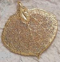 Bijoux naturel  Pendentif Feuille de tremble