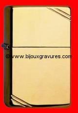 GRAVURE BRIQUET ZIPPO VINTAGE<br /> LES BRIQUETS ZIPPO <br /> SONT GARANTIS A VIE<br />