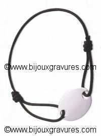 Bracelet <br /> PLAQUE ARGENT