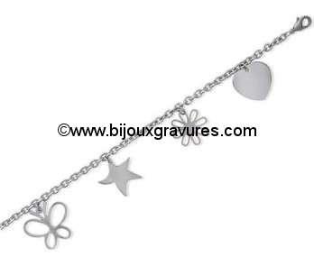 Bracelet ACIER Breloque