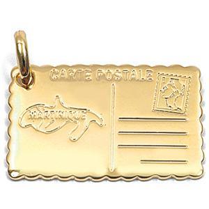 Gravure médaille plaqué or 830 M