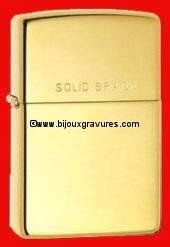 GRAVURE BRIQUET ZIPPO GRAND MODELE. <br /> Z 027<br /> LES BRIQUETS ZIPPO SONT GARANTIS A VIE