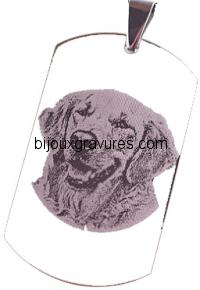 Gravure médaille Acier 316 L Acier chirurgical