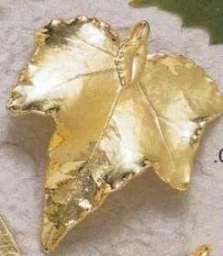 Bijoux Naturels Pendentif Feuille de LIERRE