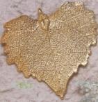 Bijoux naturels  Broche Feuille de peuplier veinée
