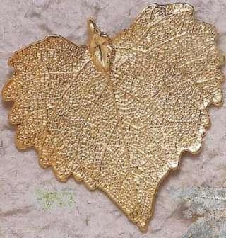 Bijoux naturels  Pendentif Feuille de peuplier veinée