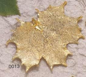 Bijoux naturels. Pendentif ERABLE  du CANADA
