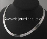 Chaine ARGENT Maille miroir plate