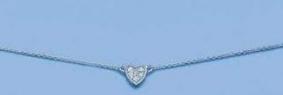 Chaine coeur zirconium